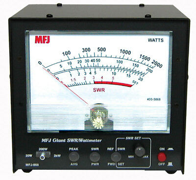 MFJ-868b Giant SWR/Power Wattmeter