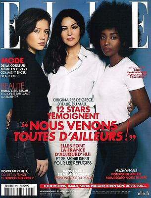 ELLE France 25 November 2016 MONICA BELLUCCI Melodie Vaxelaire DEVON WINDSOR New