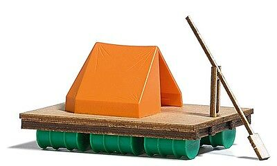 Busch Wooden Raft with Tent - Kit - HO Gauge - 1564