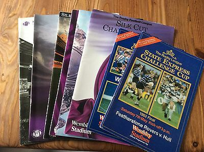 8 Rugby League Challenge Cup Final Programmes