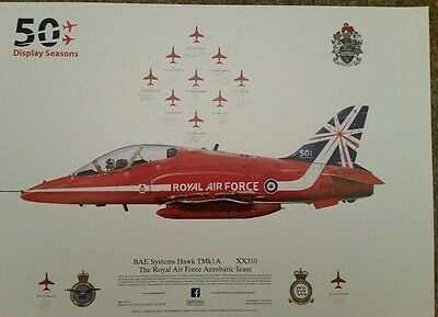 Red Arrows 50th print