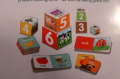 Baby Firsts Farm Board Books and Stacking Blocks