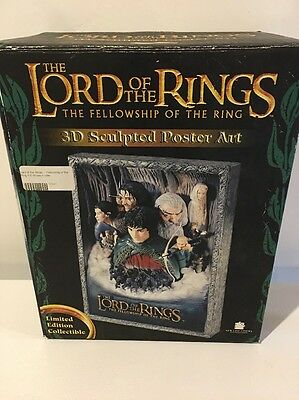 The LORD of the RINGS The Fellowship of the Ring 3D Sculpted Poster Art - NISP