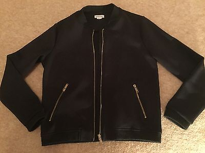 River Island Girls Black Bomber Style Jacket Age 9-10 years