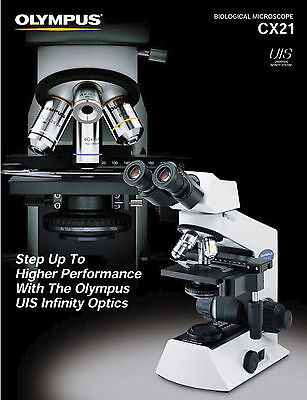 Olympus CX-21 Microscope (with 4x, 10x and 40x objectives) - NEW