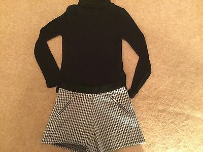 M&S Short and Polo Neck outfit Age 9-10 years