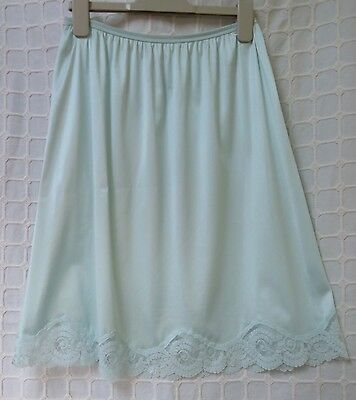 size 12 Waist slip vintage by St Michael made in UK Peppermint colour washable