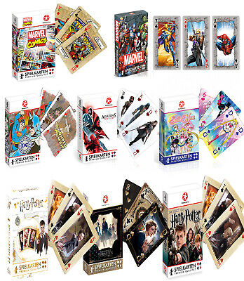 Kartenspiel Spielkarten DC Marvel Harry Potter Assassins Creed WinningMoves Neu
