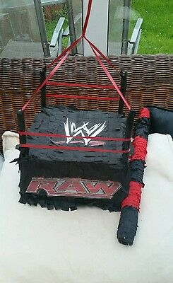WWE RAW Wrestling Pinata Sweets Birthday Party & Stick Wrestlemania Personalised