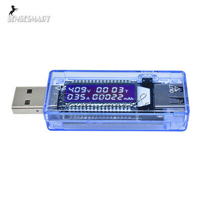 LCD USB Charger Doctor Capacity time Voltage Detector Meter Battery Tester