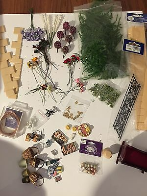 Huge Job lot Bundle Of dolls house Accessories New And Used Great Condition