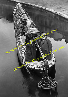 """Photo - LMS canal narrowboat """"Antwerp"""", 1929"""