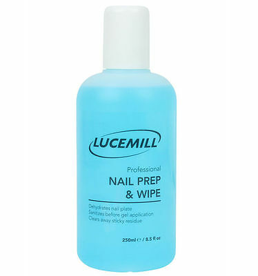1X 250Ml Strictly Professional Nail Prep & Wipe Gel Nail Polish Cleaner Cleanser