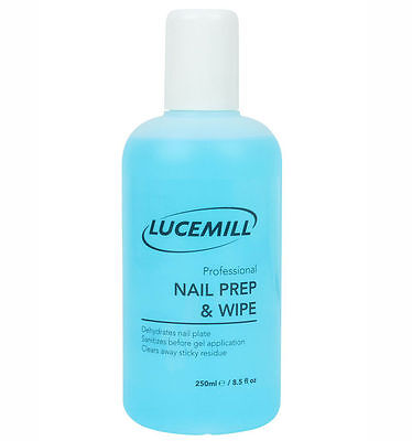 250ml Lucemill Professional NAIL PREP & WIPE GEL NAIL POLISH CLEANER CLEANSER-UK