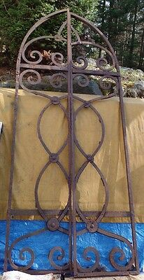 Great Old Pair Of Antique Wrought Iron Gates Doors Architectural Elements