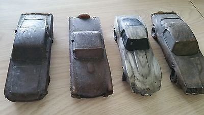 4 Carved Wooden Cars (999)