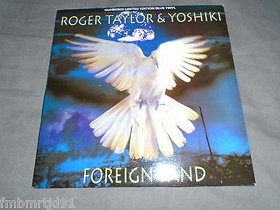 "Roger Taylor (Queen) - Foreign Sand 7"" Blue (Freddie Mercury, Brian May)"