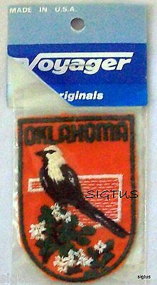Beautiful Vintage OKLAHOMA Voyager Patch Badge Souvenir Embroidered NEW MIP!