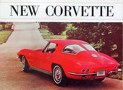 1963  Chevrolet Corvette  Catalogue En Anglais
