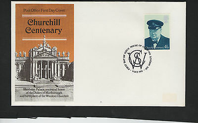 GB First Day Cover. 1974. Churchill  Birth Centenary - House of Commons