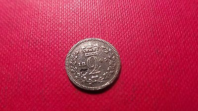 Great Britain, Silver, Queen Victoria, 2 Pence Coin, 1845.