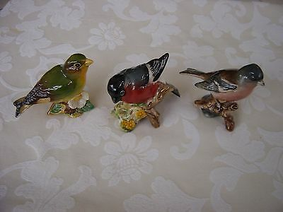 Beswick Greenfinch, Chaffinch And Bullfinch In Excellent Condition