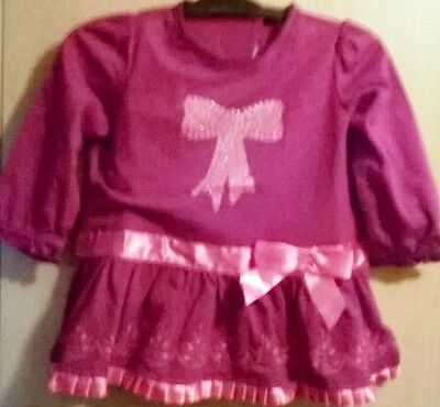"""Mothercare Stylish girl's smart """"party dress"""" cover-all Waterproof Bib"""