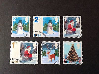 Great Britain 2006 Christmas Full Set Very Fine Used