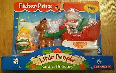 Fisher Price Little People Santa's Delivery 1999 - Brand New & Sealed