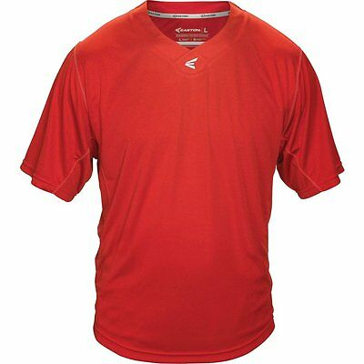 Easton Shortsleeve M5 Homeplate Jersey - Red - Youth XL