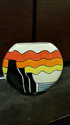 Lorna Bailey Large STOKE ON TRENT wafer Vase FREE P&P