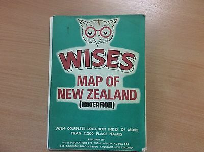 Old Wises Map of New Zealand (Aotearoa)