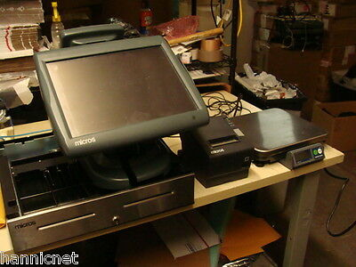 MICROS 5A POS Complete System * WS5A + Stand + Drawer + Printer + Scale