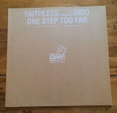 "faithless feat dido - one step too far 12"" promo vinyl record"