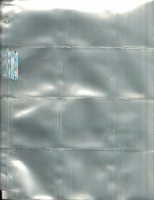 10 ULTRA PRO 'Used' - 12 Pocket Pages - Trading Cards - Free Postage