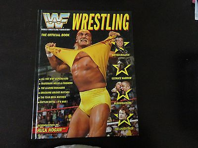 1992 WWF Wrestling the official book introduction by Hulk Hogan Excellent Cond .