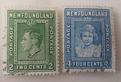 Old stamps Newfoundland british colonies