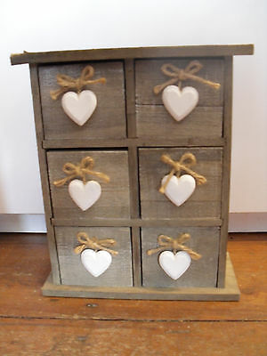 Small shabby chic spice chest style set of drawers
