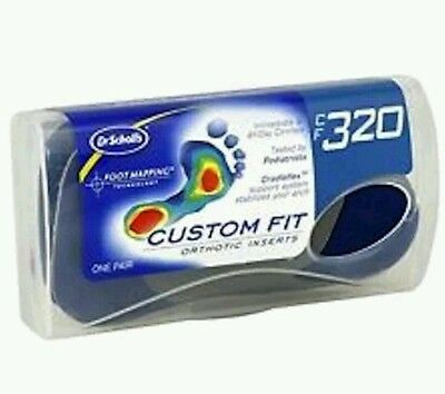 Dr Scholls CF 320 Custom Fit Orthotic Inserts Footmapping Insoles FREE SHIPPING!