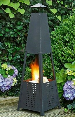 Garden Patio Heater Wood Log Fire Bowl Pit Basket Heater Burner Brazier