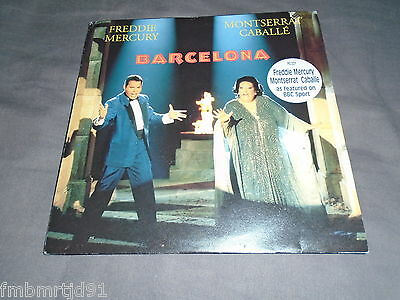 "Freddie Mercury (Queen) - Barcelona 7"" UK (Brian May, Roger Taylor)"