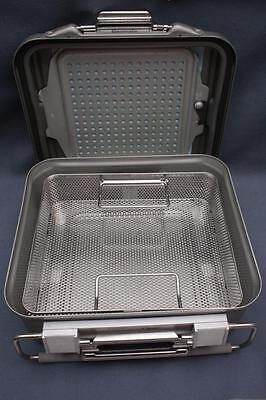 Genesis V. Mueller Baxter 12x10x4 C95 Surgical Sterilization Container w/Tray