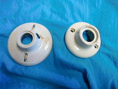 Lot Of 2 Vintage Hubbell And Paulding Porcelain Base Ceiling Light Fixtures