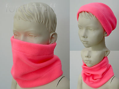 Infant baby girls NEON FLUORESCENT PINK NECK WARMER hiVis Safety scarf snood