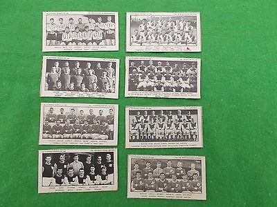 TYPHOO TEA FAMOUS FOOTBALL CLUBS 1st SERIES 8 DIFFERENT CARDS