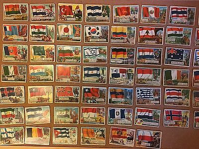 A large job lot of A&BC Flags ofthe World bubblegum cards from the early 60s