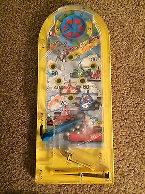 Vintage Pinball Table Top Hand game Racing Car Background Working Order 6 Balls