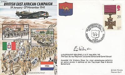 Eric Wilson VC - Signed Cover - WW2 Victoria Cross