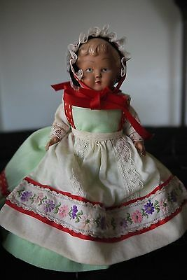 """Vintage 6"""" Hollow Celluloid Jointed Doll ~ Clamshell Shell Mark"""