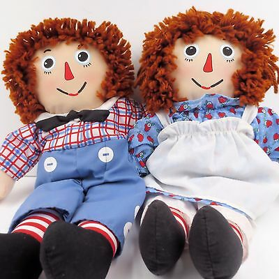 Raggedy Ann and Andy 12 Inch Dolls